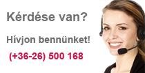 Kérdése van? - Hívjon bennünket! (+36-26) 500 168